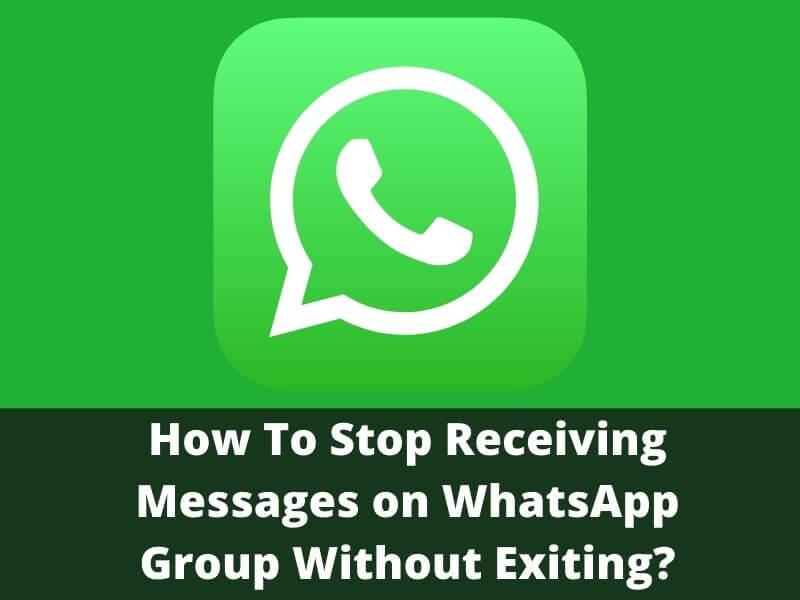 How To Stop Receiving Messages on WhatsApp Group Without Exiting